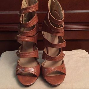 Shoes - JUST FAB Heels Size 8, Light Brown Color